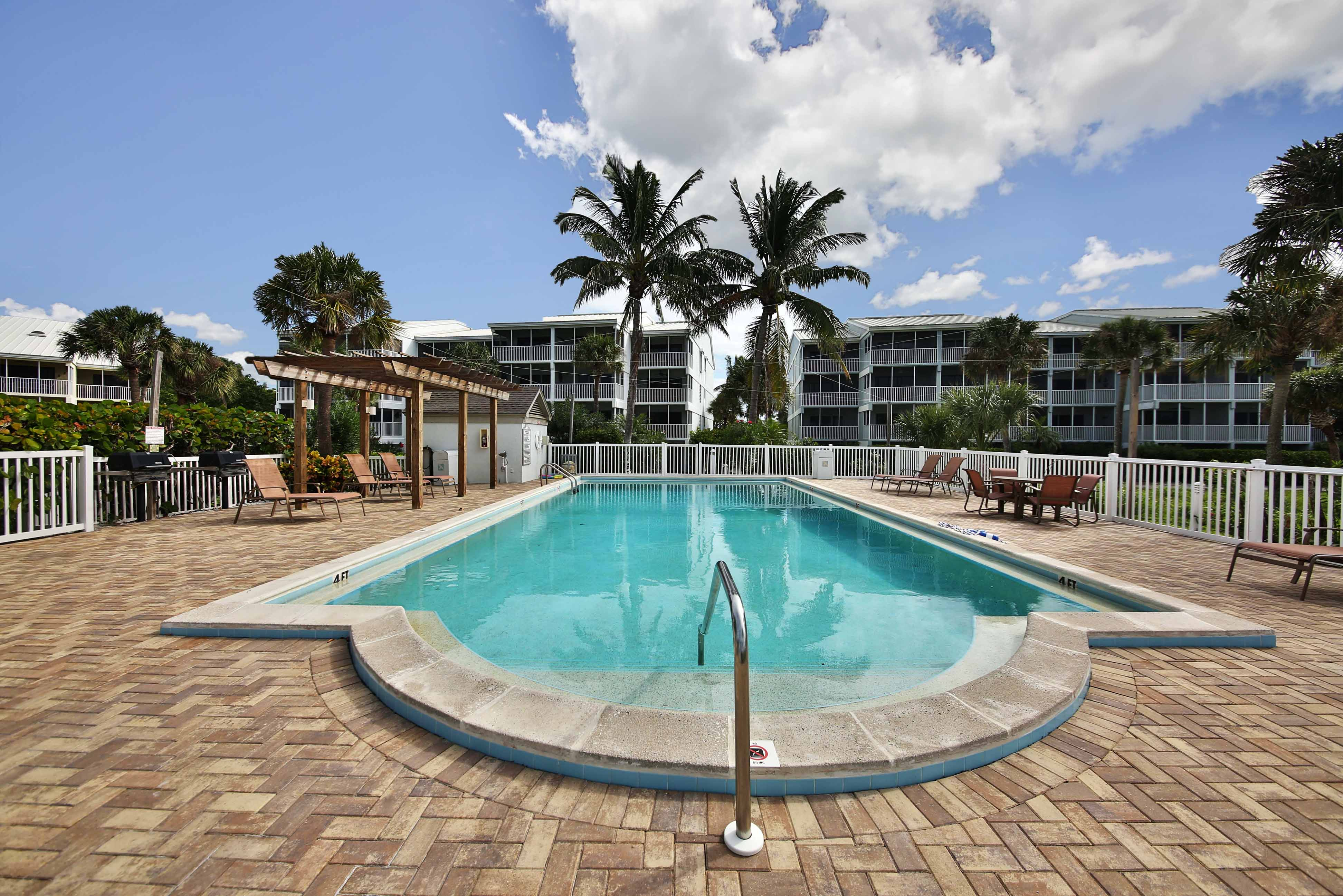 View of Community Pool and Patio for Beach Villa 2216