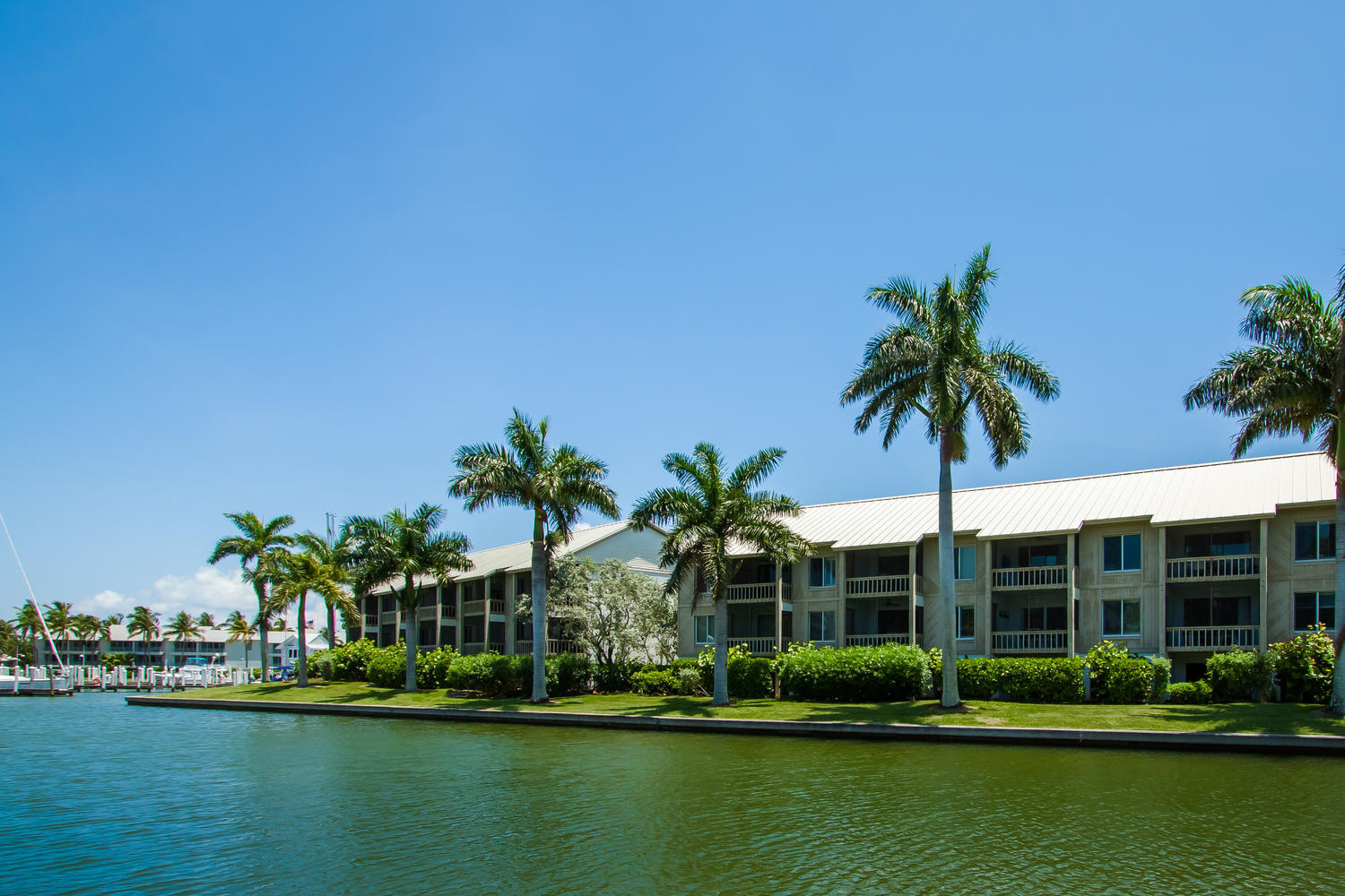 View of the Exterior Building of 708 Marina Villa at South Seas Island Resort, in Captiva Island Florida